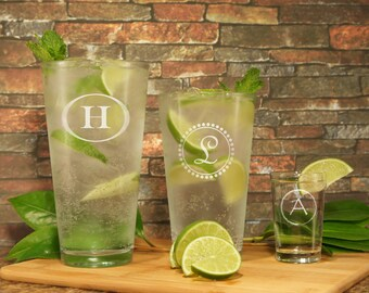 Design Highball Personalized Cocktail Glass with Monogram Design Options and Font Selection OPTIONAL Monogrammed Shot Glass