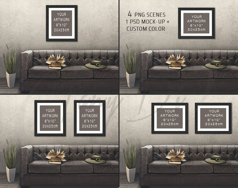 8x10 living room 7 leather sofa wall interior black wood zoom jeuxipadfo Gallery