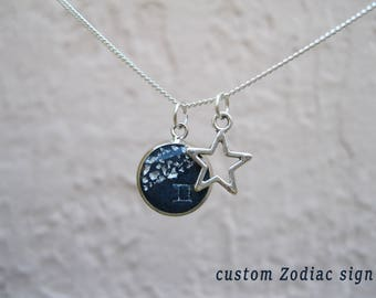 Celestial constellation anniversary gift for wife Celestial jewelry Astrology jewelry Astronomy jewelry Galaxy jewelry Horoscope jewelry