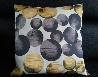 Pillow cover - French - square - 40 x 40 cm - fabric thick - modern - trendy - geometry - black - gold