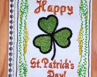 Embroidery Greeting Cards by DiElobi – St. Patrick's Day #1