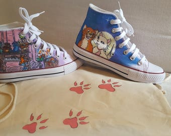 The Aristocats Hand-painted Custom boots
