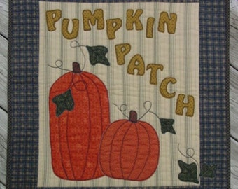 The Pumpkin Patch-Kit and Pattern for Wall Hanging