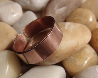 Adjustable Polished Copper Rings