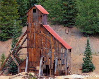 Old Colorado Mill, Landscape Photography, Photographic Art, Photographic Print, Wall Art Print, Wall Decor