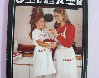 Vintage Butterick Country Gear Apron Sewing Pattern for Mother and Daughter - 1970s