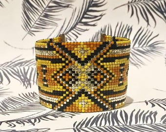 Gatsby cufflinks - Beadwork Miyuki