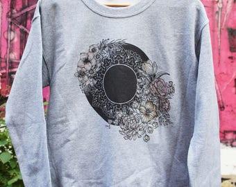 Sweat round flower Mandala - grey