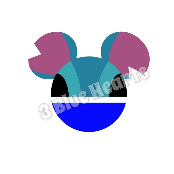 Stitch Mickey Head Lilo And Stitch Mickey Head Stitch Svg