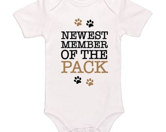 Newest Member Of The Pack Bodysuit - Cute Funny Baby Clothing For Baby Boys And Baby Girls, Adorable One-Piece Outfit