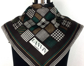 """Lanvin Silk scarf vintage scarf gift for her D7 Size 20"""""""