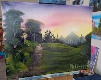 Wilderness Day 16x20 (Bob Ross Inspired)