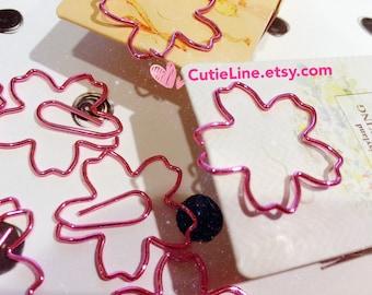 Sakura Paper Clips with Electroplated Finish - Cherry Blossom/ Planner/ Midori/ Traveler's notebook/ Erin Condren/ Kikki K/ Stationary