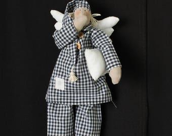 Angel/ Lucky Angel Gift/ Angel charm/ Sleeping doll/ Angel decor/ Angel gifts/ Angel wall decor/ Angel doll/ Fabric doll