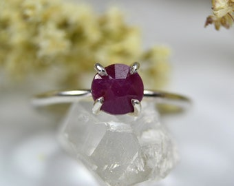 Ruby Ring - Sterling Silver & 14k Gold Filled