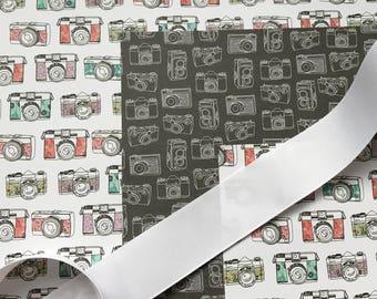 Shutterbug Camera Gift Wrap Add-On for NiftyNarwhalTM Items