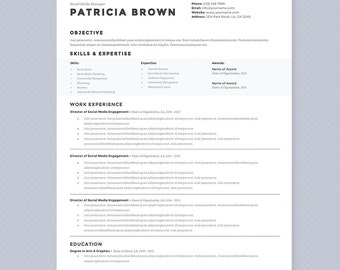 Elegant Modern Resume Cover Letter References Template
