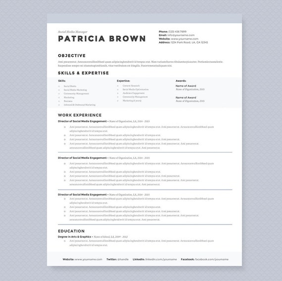 Clean Resume & Cover Letter Template Clean Template Package