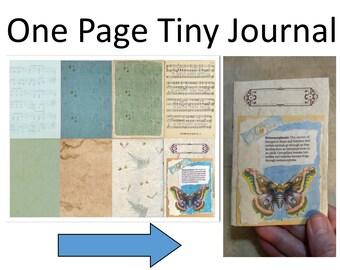 Vintage Butterfly Tiny Journal on a Page Digi-Kit