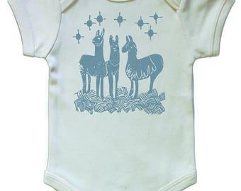 Llama Organic Baby Onesie