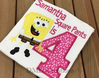 Sponge Bob Birthday Shirt