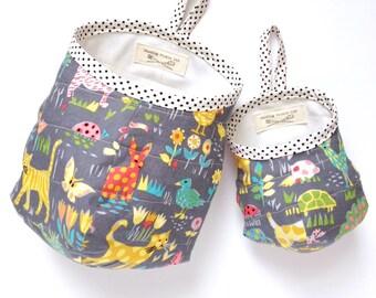 Fabric Hanging Storage Basket, Dog Toy Storage Bag, Hanging Basket, School Supply Bag, Desk Decor, Make-up Bag, Dorm Storage, Locker Storage