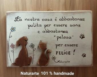"""Wood sign """"Pets"""""""