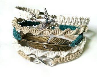 Bridesmaid Bracelet Set - Boho Bridesmaid Gift, Bridesmaid Jewelry, Country Bridesmaid Gift, Affordable Bridesmaid Gift, Boho Bridal Jewelry
