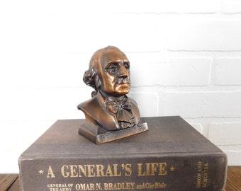 Vintage Copper Bronze George Washington Bank, Collectible President Bank