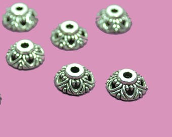 10 cups round diameter 10mm silver color