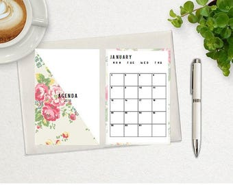 2018 Daily Planner, Printable Inserts, A5 Planner, Weekly Planner, Monthly Planner, 2018