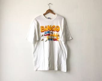 BINGO SHIRT // 90s // XL // Bingo T-Shirt // Bingo Shirt // Funny Shirt // Bingo // Bingo T-Shirt // 90s Bingo // Gag Shirt // Funny Shirt