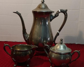 Vintage Silver Plate Coffee Set Vintage Electroplate Tea Set