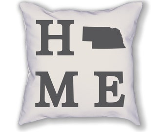 Nebraska Home State Pillow