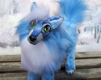 Fantasy blue fox