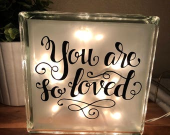 You Are So Loved Night Light