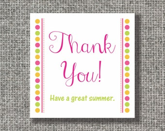 "Set of 24 thank you 2.5"" x 2.5"" cards or stickers, gift enclosure, gift tags"