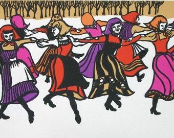 Mostly Mazurka by Barbara Fernekes Hughes   An Original Serigraph