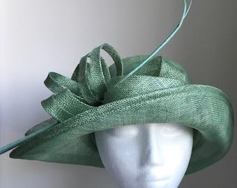 Esta Mint/ Leaf/ Jade Green Derby Hat, Women's Kentucky Derby Hat Green, Fancy Green Wedding Hat, Tea Hat, Ladies Derby Hats,Green Millinery