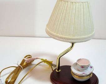 Night Light with Trinket/Pill Box and Lampshade