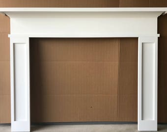 READY TO SHIP Primed Fireplace Mantel White 1014-