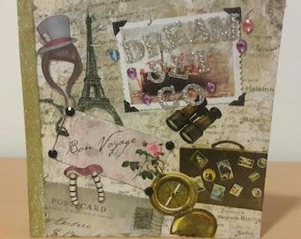 Card Travel theme Bon Voyage