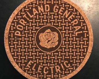 Manhole cover Trivet: Portland, Oregon