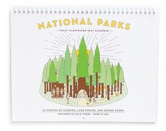 SALE National Park 2017 Wire Coil Calendar
