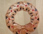 Holly Wall Wreath ~ Wood ...