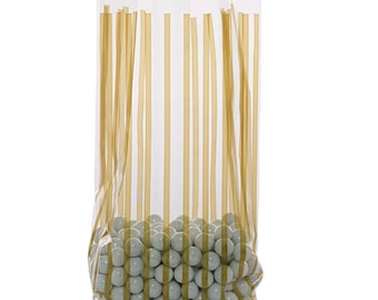 CELLO Bag , Favor bags, gift bags, wedding, shower, hostess gifts, VERTICAL STRIPE Gold