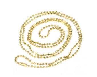 supports 12 necklaces 1.5 mm gold plated ball chain 80cm