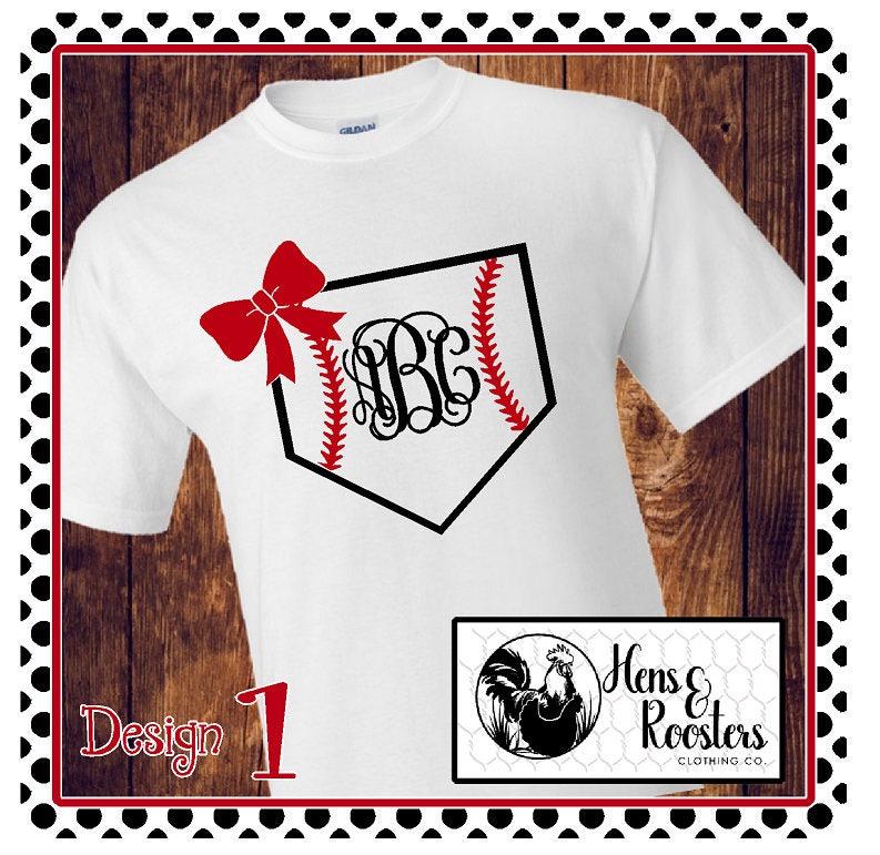 Brand new MONOGRAM Baseball Mom Shirts, Girlfriend, Sister, Aunt / Four  FX75