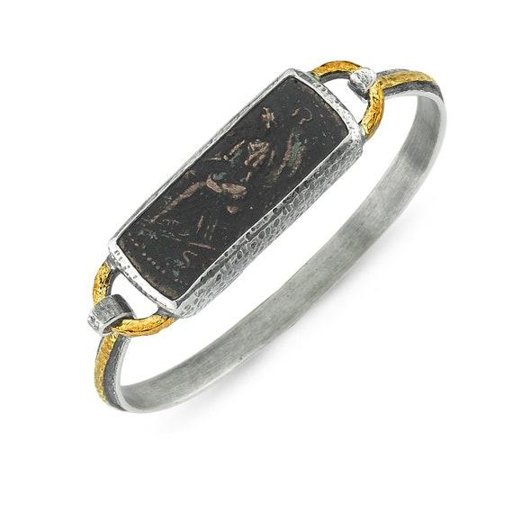 Silver Ancient Bracelet, Silver Bracelet, Handmade Bracelet, Custom Bracelet, Oxidized Bracelet, Two Tone Bracelet, Gift For Her