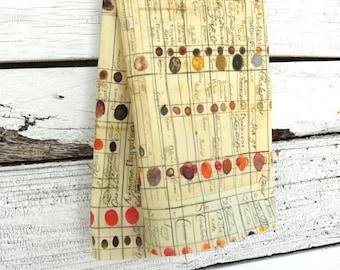 CADEAUX de fête des mère, torchon en lin - Charte de couleur Antique, fait sur commande